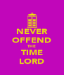NEVER OFFEND THE TIME LORD - Personalised Poster A4 size