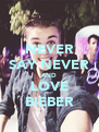 NEVER SAY NEVER AND LOVE BIEBER - Personalised Poster A4 size