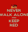 NEVER WALK ALONE AND KEEP RED - Personalised Poster A4 size
