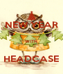 NEW YEAR  WITH  HEADCASE - Personalised Poster A4 size