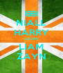 NIALL HARRY LOUIS LIAM ZAYN - Personalised Poster A4 size