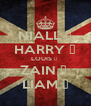 NIALL ♥ HARRY ♥ LOUIS ♥  ZAIN ♥  LIAM ♥ - Personalised Poster A4 size