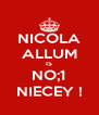 NICOLA ALLUM IS NO;1 NIECEY ! - Personalised Poster A4 size