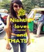 Nishtha  loves mridul and THATS IT. - Personalised Poster A4 size