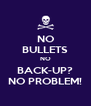 NO BULLETS NO BACK-UP? NO PROBLEM! - Personalised Poster A4 size