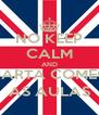 NO KEEP CALM AND QUARTA COMEÇA AS AULAS - Personalised Poster A4 size
