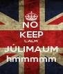 NO  KEEP CALM JÚLIMAUM hmmmmm - Personalised Poster A4 size