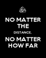 NO MATTER THE DISTANCE, NO MATTER HOW FAR - Personalised Poster A4 size