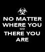 NO MATTER WHERE YOU GO THERE YOU ARE - Personalised Poster A4 size