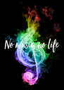 No music, no life - Personalised Poster A4 size