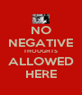 NO NEGATIVE THOUGHTS ALLOWED HERE - Personalised Poster A4 size