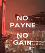 NO PAYNE  NO GAIN - Personalised Poster A4 size