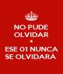 NO PUDE OLVIDAR & ESE 01 NUNCA SE OLVIDARÁ  - Personalised Poster A4 size