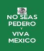 NO SEAS PEDERO Y  VIVA  MEXICO - Personalised Poster A4 size