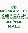 NO WAY TO  KEEP CALM WHEN I`M CLOSE TO MY HOT ALPHA MALE - Personalised Poster A4 size