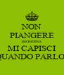 NON PIANGERE BIONDINA MI CAPISCI QUANDO PARLO? - Personalised Poster A4 size