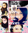 Nonu Loves Prabh loves Nonu - Personalised Poster A4 size