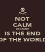 NOT CALM BECAUSE IS THE END OF THE WORLD - Personalised Poster A4 size