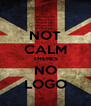 NOT CALM THERES NO LOGO - Personalised Poster A4 size