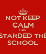 NOT KEEP CALM HAS STARDED THE SCHOOL - Personalised Poster A4 size