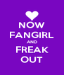 NOW FANGIRL AND FREAK OUT - Personalised Poster A4 size