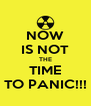 NOW IS NOT THE TIME TO PANIC!!! - Personalised Poster A4 size