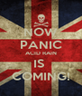 NOW PANIC ACID RAIN IS  COMING! - Personalised Poster A4 size