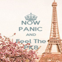 NOW PANIC AND Feel The PK8 - Personalised Poster A4 size