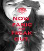 NOW  PANIC AND FREAK OUT. - Personalised Poster A4 size