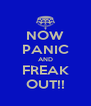 NOW PANIC AND FREAK OUT!! - Personalised Poster A4 size