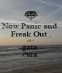 Now Panic and  Freak Out , că-i gata  vara. - Personalised Poster A4 size