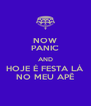 NOW PANIC AND HOJE É FESTA LÁ NO MEU APÊ - Personalised Poster A4 size