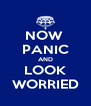 NOW  PANIC AND LOOK WORRIED - Personalised Poster A4 size