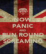 NOW PANIC AND RUN ROUND SCREAMING - Personalised Poster A4 size