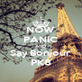 NOW PANIC AND Say Bonjour PK8 - Personalised Poster A4 size