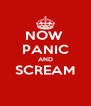NOW  PANIC AND SCREAM  - Personalised Poster A4 size