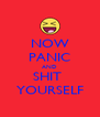 NOW PANIC AND SHIT  YOURSELF - Personalised Poster A4 size