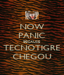 NOW PANIC BECAUSE TECNOTIGRE CHEGOU - Personalised Poster A4 size
