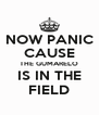 NOW PANIC CAUSE THE GUMARELO IS IN THE FIELD - Personalised Poster A4 size