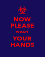 NOW PLEASE WASH YOUR HANDS - Personalised Poster A4 size