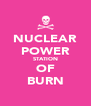 NUCLEAR POWER STATION OF BURN - Personalised Poster A4 size