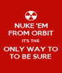 NUKE 'EM FROM ORBIT IT'S THE ONLY WAY TO TO BE SURE - Personalised Poster A4 size