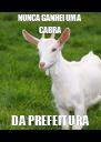 NUNCA GANHEI UMA CABRA DA PREFEITURA - Personalised Poster A4 size