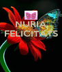 NURIA FELICITATS    - Personalised Poster A4 size