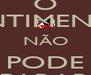 O SENTIMENTO NÃO PODE PARAR - Personalised Poster A4 size
