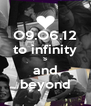 O9.O6.12 to infinity ∞ and beyond - Personalised Poster A4 size