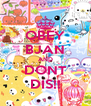 OBEY BJAN AND DONT DIS!! - Personalised Poster A4 size