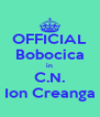 OFFICIAL Bobocica in C.N. Ion Creanga - Personalised Poster A4 size