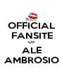 OFFICIAL FANSITE OF ALE AMBROSIO - Personalised Poster A4 size