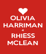 OLIVIA HARRIMAN 4 RHIESS MCLEAN - Personalised Poster A4 size